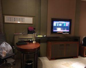 成都空港ホテル部屋モニター