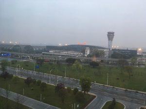 成都空港ホテルから見る成都空港