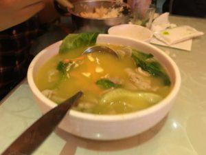 陳麻婆豆腐のスープ