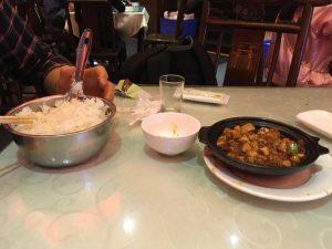 陳麻婆豆腐ご飯