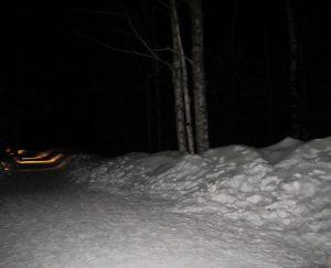 halからアイスヴィレッジへの道