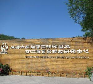 都江堰熊猫谷看板