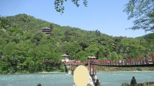 都江堰景区吊り橋