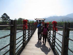 都江堰景区吊り橋内部