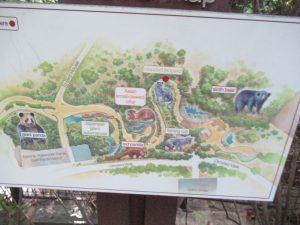 スミソニアン動物園案内図