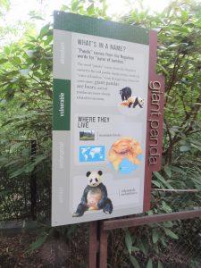 スミソニアン動物園看板