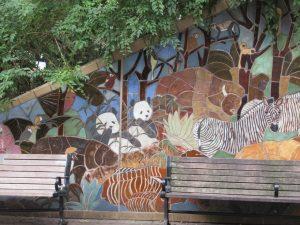 スミソニアン動物園パンダ壁画