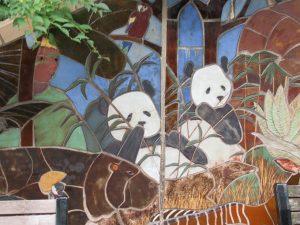 スミソニアン動物園壁画パンダ