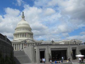 アメリカ国会議事堂図書館入口