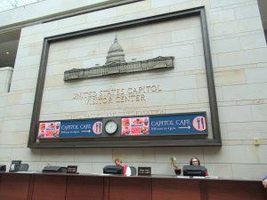 アメリカ国会議事堂ビジターセンター受付