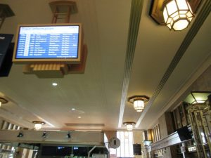 フィラデルフィア駅の時刻表示