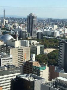 ヒルトン名古屋東向きのお部屋眺望